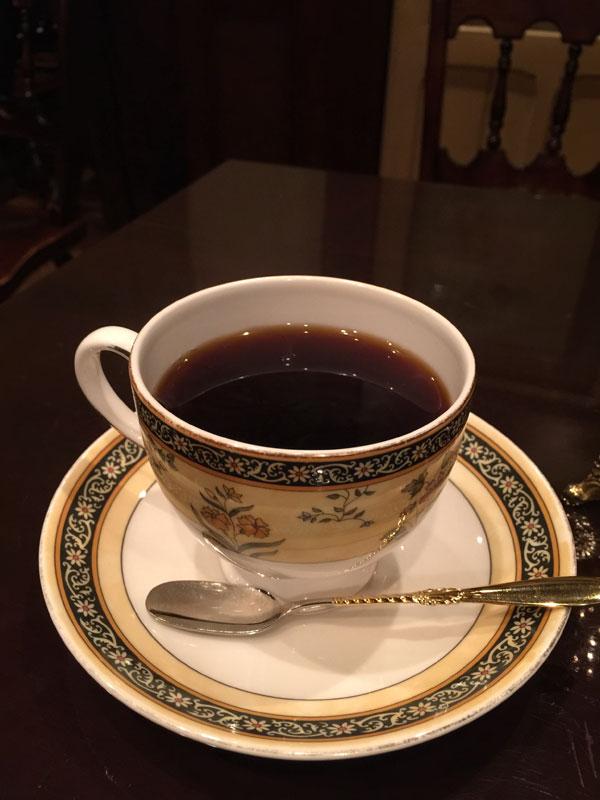皇琲亭で注文したコーヒー「オリジナルブレンド」