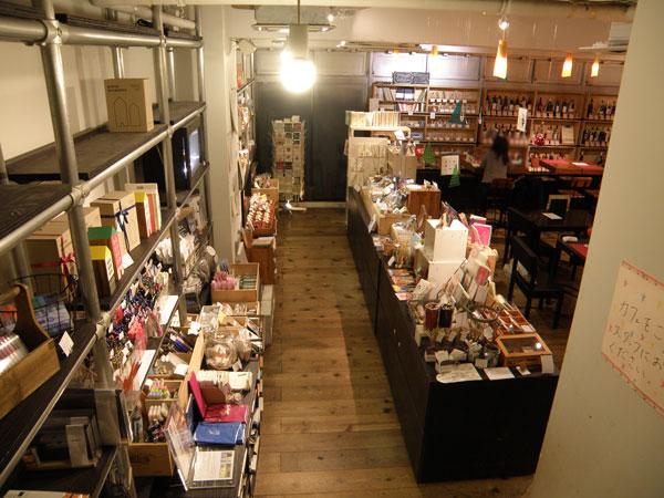 文房具カフェの店内の様子