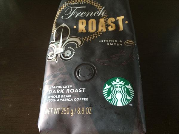 スタバのコーヒー豆「フレンチロースト」を試してみた
