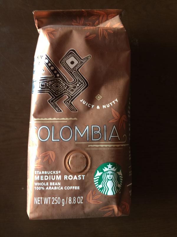 スタバのコーヒー豆「コロンビア」の味は?飲んだ感想