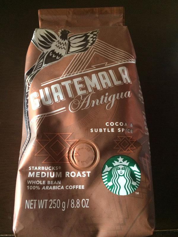 スタバのコーヒー豆「グアテマラ アンティグア」を飲んだ感想