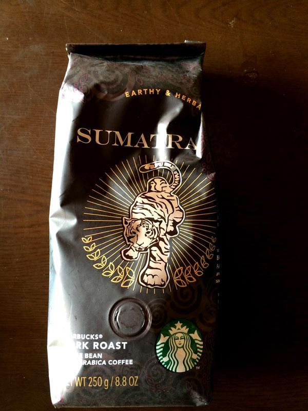 スタバのコーヒー豆「スマトラ」の香り・味をチェック