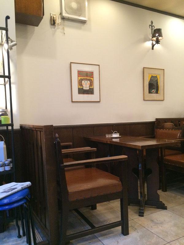 カフェ「バッハ」店内の雰囲気